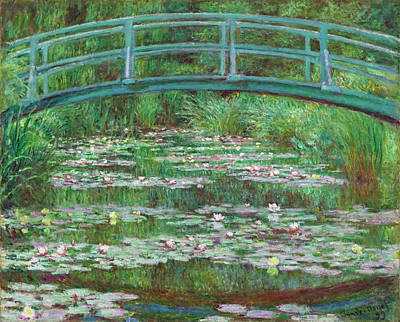 Footbridge Painting - The Japanese Footbridge by Claude Monet