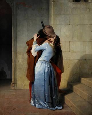 Hayez Painting - The Kiss by Francesco Hayez