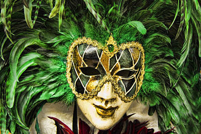 Hand Crafted Photograph - Venetian Carnaval Mask by David Smith