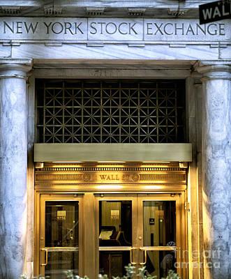 Of Money Photograph - 11 Wall Street by John Rizzuto