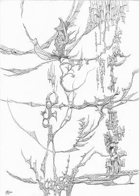 Abstract Drawing - 1110-4 by Charles Cater