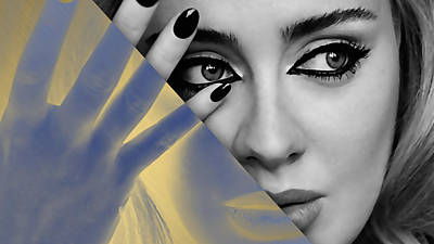 Adele Mixed Media - Adele Collection by Marvin Blaine