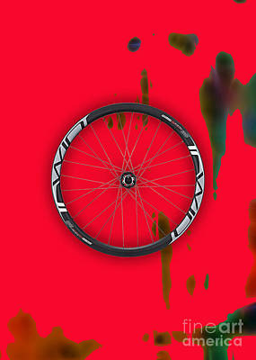 Race Mixed Media - Bicycle Wheel Collection by Marvin Blaine