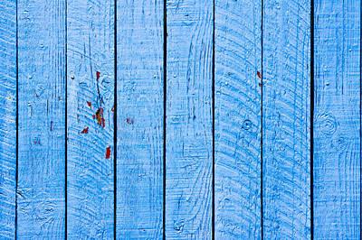 Blue Wood Print by Tom Gowanlock