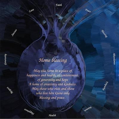 Home Blessing Print by Sandrine Kespi