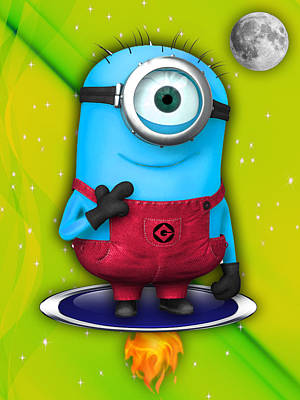 Baby Mixed Media - Minions Collection by Marvin Blaine