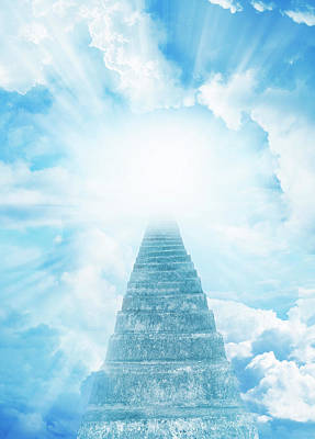 Stairway To Heaven Print by Les Cunliffe