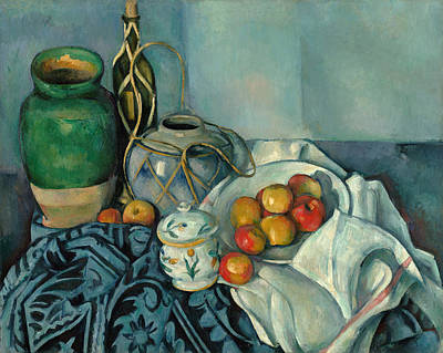 Fruit Painting - Still Life With Apples by Paul Cezanne