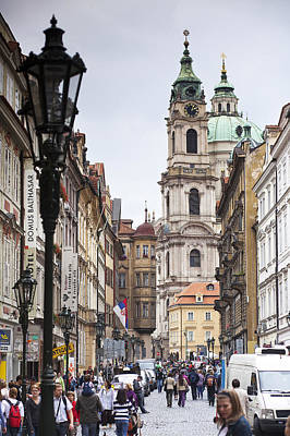 Streets Of Prague Print by Andre Goncalves