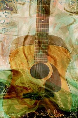 Energy Art Movement Digital Art - 12 String by Linda Sannuti