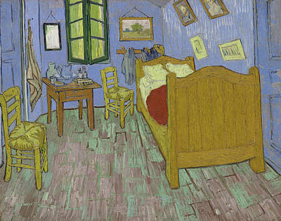 Bedside Table Painting - The Bedroom by Vincent Van Gogh