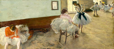 Rehearsal Painting - The Dance Lesson by Edgar Degas