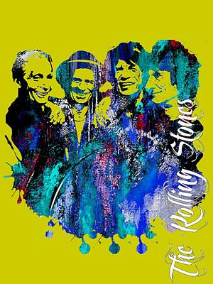 Rock Mixed Media - The Rolling Stones Collection by Marvin Blaine