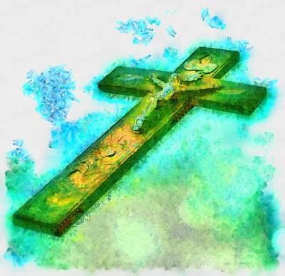 Jesus Christ - Religious Art Print by Elena Kosvincheva