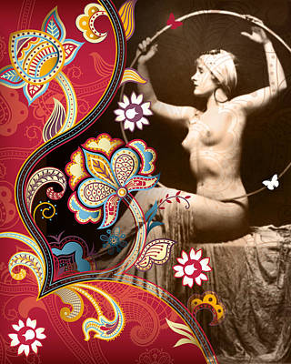 Garter Belts Mixed Media - Goddess by Chris Andruskiewicz