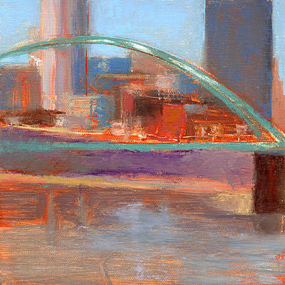 Downtown Pittsburgh Painting - Rcnpaintings.com by Chris N Rohrbach