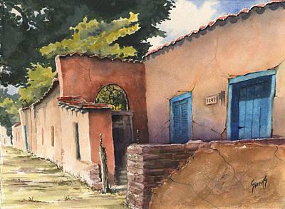 Brick Painting - 1247 Agua Fria Street by Sam Sidders