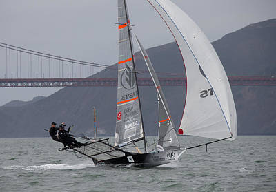 Sausalito Photograph - 18 Skiff International by Steven Lapkin
