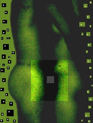 Nudes Photograph - 2016 - Inhalation 3.1 Green by Oscar Valladares