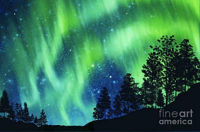 Mysterious Digital Art - Aurora Borealis by Setsiri Silapasuwanchai