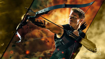 Heroes Mixed Media - Hawkeye Collection by Marvin Blaine