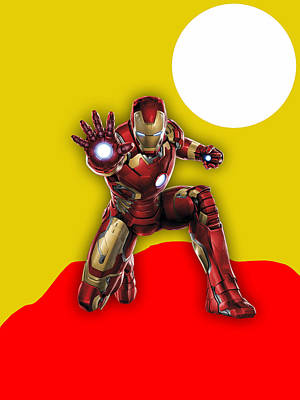 Iron Man Collection Print by Marvin Blaine