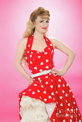 Pin Up Girl Print by Amanda And Christopher Elwell