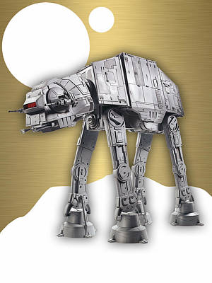 Star Wars At-at Collection Print by Marvin Blaine