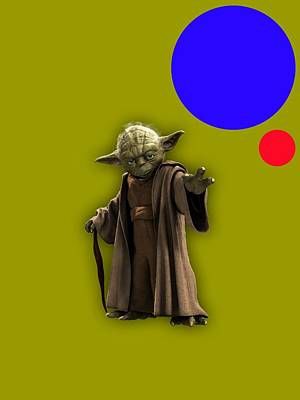 Starwars Mixed Media - Star Wars Yoda Collection by Marvin Blaine