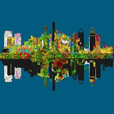 Tokyo Skyline Painting - Tokyo Skyline by John Groves