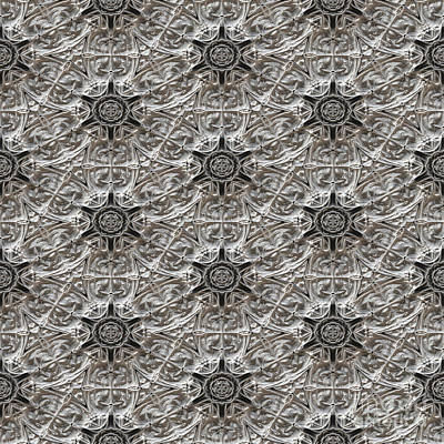 Kaleidoscopic Ornaments Print by Miroslav Nemecek