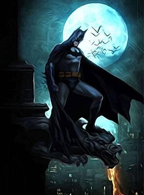 Batman 3 Print by Egor Vysockiy