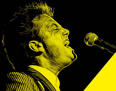 Billy Joel Collection Print by Marvin Blaine