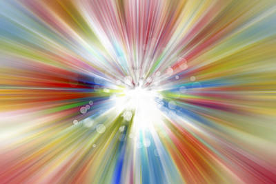 Burst Digital Art - Bright Background  by Les Cunliffe