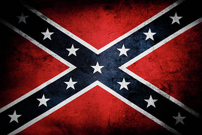 Dixie Photograph - Confederate Flag by Les Cunliffe