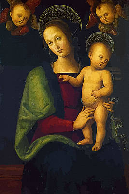 Mary And Child Print by Christian Art