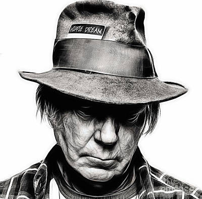 Neil Young Mixed Media - Neil Young Collection by Marvin Blaine