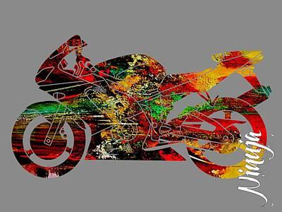 Ninja Motorcycle Print by Marvin Blaine