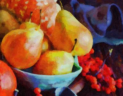Fruit Digital Art - Pear Art by Michael Vicin