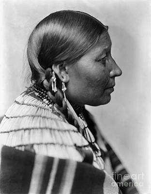 Earrings Photograph - Sioux Native American, C1900 by Granger