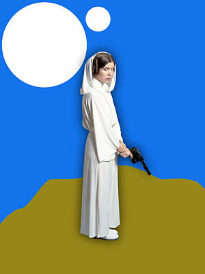 Star Wars Princess Leia Collection Print by Marvin Blaine