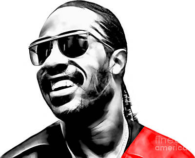 Music Mixed Media - Stevie Wonder Collection by Marvin Blaine