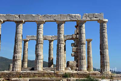 Cape Photograph - Temple Of Poseidon by George Atsametakis