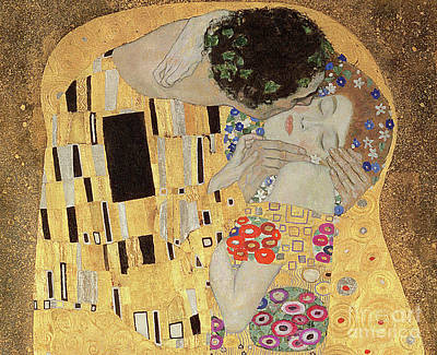 Women Together Painting - The Kiss by Gustav Klimt