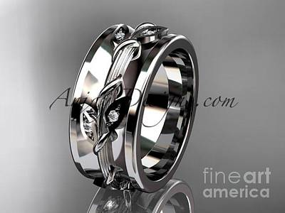 Jewelry - 14kt White Gold Diamond Engagement Ring, Wedding Band Adlr417b by AnjaysDesigns com