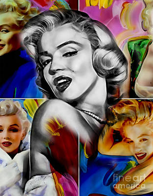 Icons Mixed Media - Marilyn Monroe Collection by Marvin Blaine