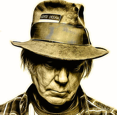 Neil Young Photograph - Neil Young Collection by Marvin Blaine