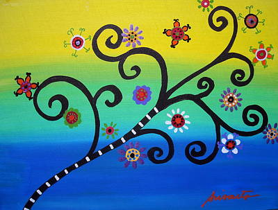 Landscape Painting - Tree Of Life by Pristine Cartera Turkus