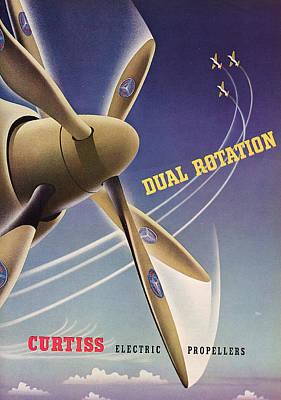 World War II Advertisement  Print by American School