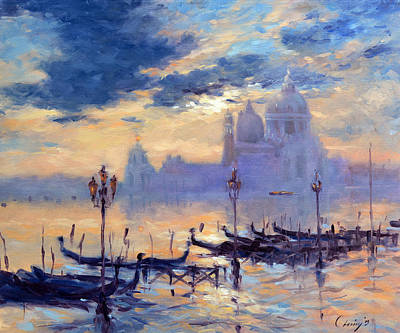 Venice Painting - 153 Dawn Tide  by Chuck Larivey